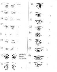 Anime eyes-152-169 by mayshing