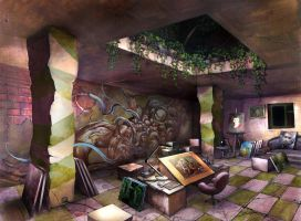 My imaginary working place by APetruk