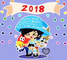 Happy New Year 2018!!! by KawaiiRebichan