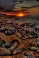 Sunset Rocks HDR by crazyIvan969