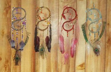 4 Dragon Dream Catchers by KenshinKyo