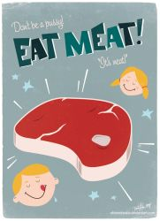 Eat meat by Obtenebratio