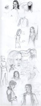 Tolkien Sketchdump by Niphredill