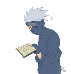 Kakashi-Interrupted Reading by BotanofSpiritWorld