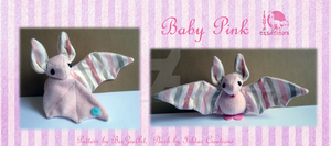 Baby Pink Bat Plush by Ishtar-Creations