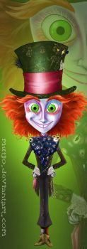 Mad Hatter Bookmark by QGildea