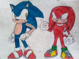 Sonic and Knuckles by TheOneAndOnlyCactus
