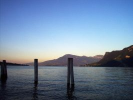 Pillars in a lake by Old-Spot
