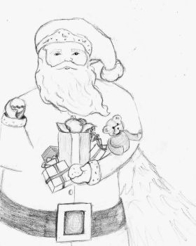 Santa by hippie-go-lucky