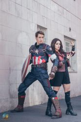Cap and Scarlet by Lily-on-the-moon
