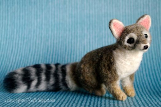 Needle felted cacomistle or ring-tailed cat by SaniAmaniCrafts