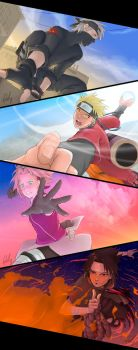 Dawn, Day, Dusk and Night - Team 7 by Quill-q