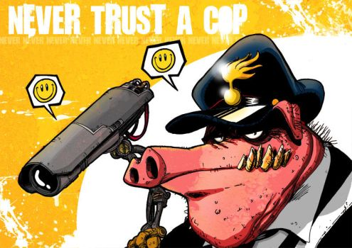 never trust a cop by zerocalcare