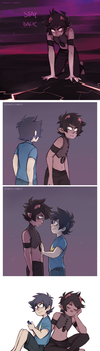 Sustuck: Karkat and John by ikimaru-art