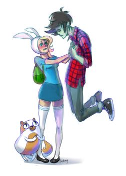 Fionna and Marshall by Lailamon