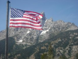 American Flag over Teaton 2 by Sam-Castle