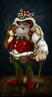 Steampunk Santa by MillaMeh