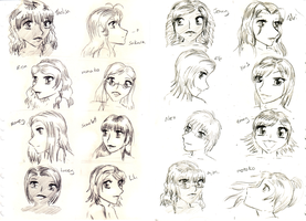 OHSHC OCs Gift Sketches by THWT