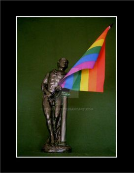 My Gay Pride Flag Sculpture by Pinkpasty