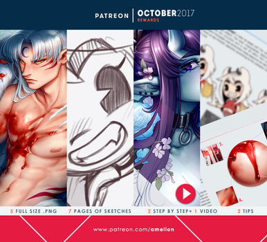 Patreon - OCTOBER2017 rewards by Amelion