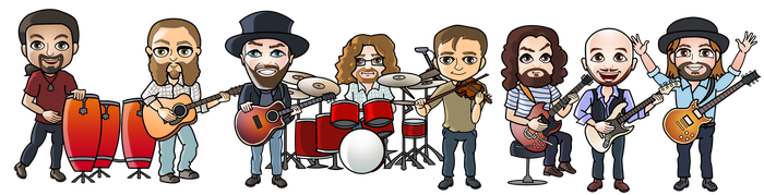 Zac Brown Band (commission) by JessHavok