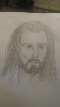 My attempt of drawing Thorin by sayachanxx