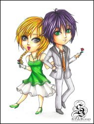 Copic Art: Dylan and Leila by StarSophi