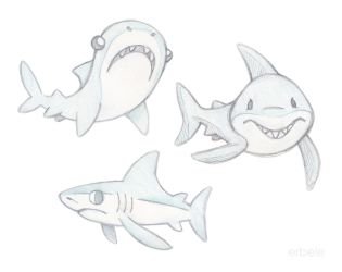Shark Sketches by ErbyDraws