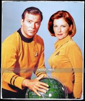 Captain Kirk and Captain Janeway (updated) by gazomg