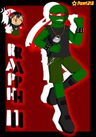 TMNT in Ben 10-Raph 11 by RoseMary1315