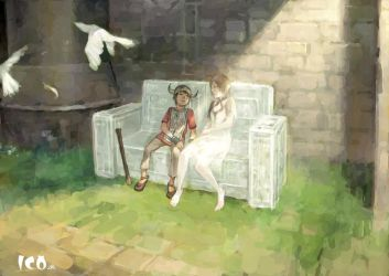 ICO - Sleeping in a chair by cellar-fcp