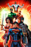 Justice League 3D Anaglyph 4 by xmancyclops