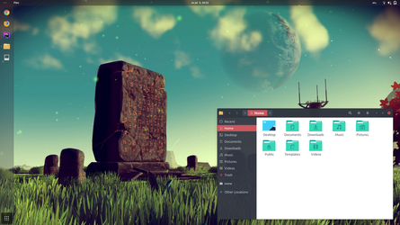 My latest desktop - Gnome 3.20 by SunriseNL