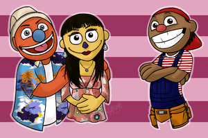 Aussie Cast Humans as Puppets by muffinpoodle