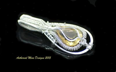 Sterling Silver and Citrine Pendant by AetherealMinx