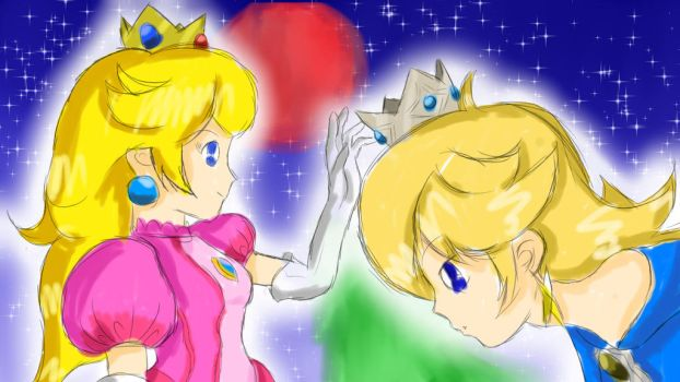 Peach and Rosalina by Eric-McCloud