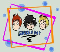 Uber-Cute Green Day by MusicalFire