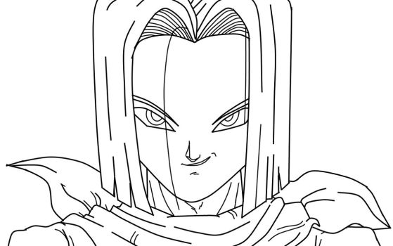 Android 17 Closeup WIP by carapau