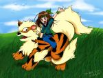 Yvi and Arcanine by Lina17Inverse
