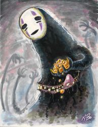 Spirited Away No-Face Commission by kevinbolk