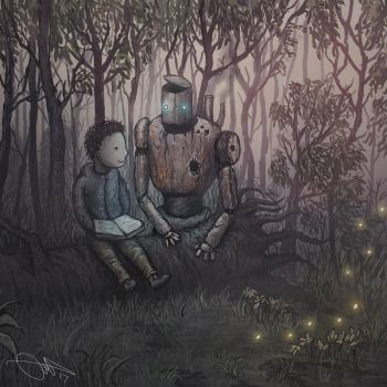 Boy And Robot by Eemeling