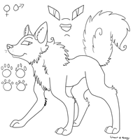 Free Dog/Wolf Lineart by Nekoender