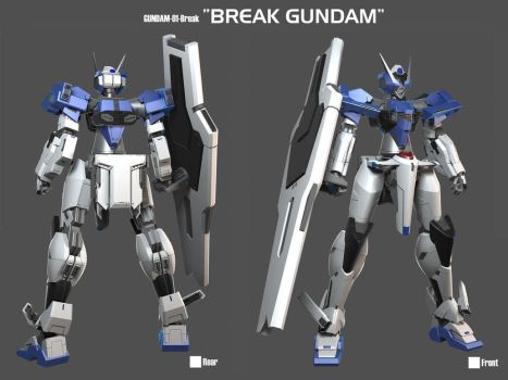 Break Gundam 3D by Rekkou