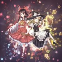 Reimu and Marisa by tauminust