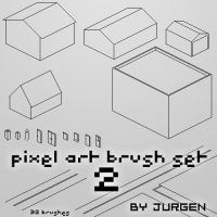 Pixel Art Brush Set 2 by narvils