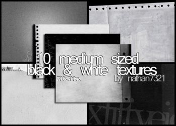 10 black and white textures by nathan7321