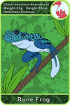 Arecacen Creature cards: Rune Frog by Chikara-Redwing