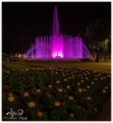 Fountain in the night by InDeathsEmbrace