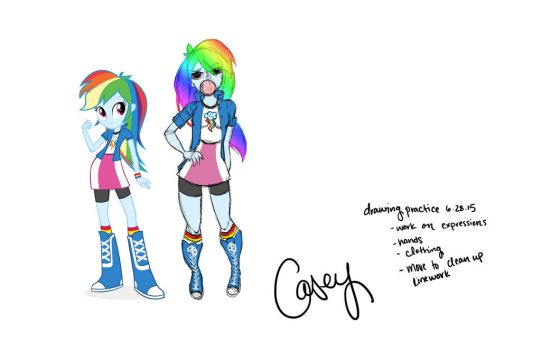 Drawing Practice: Rainbow Dash by packAndwhite241993