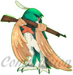 Pokemon Commission - Decidueye by Dragonfoxgirl